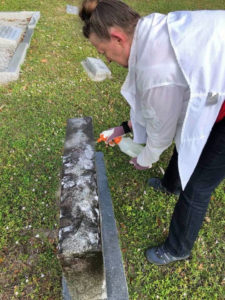 Cleaning up our Veterans headstones at Bonita Springs Cemetery