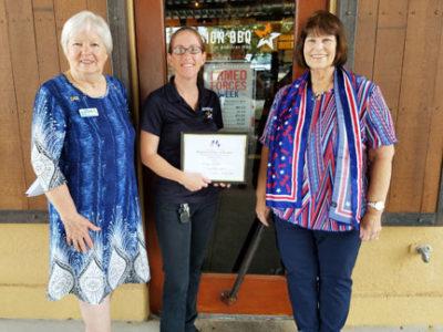 MIssion BBQ received a DAR Flag Award