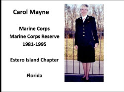 Member Carol Mayne recognized for her Service at Continental Congress.